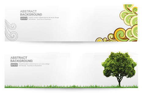 free vector Abstract Banner Background