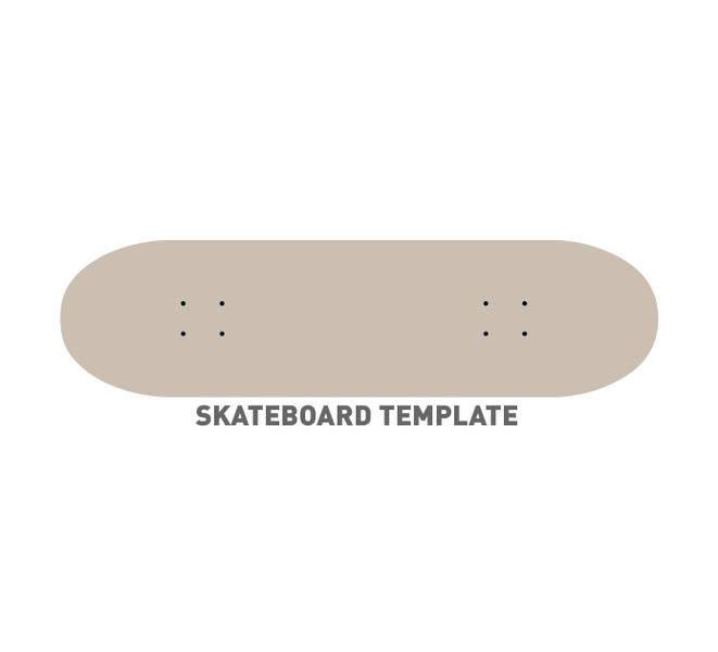 free vector Skateboard Template