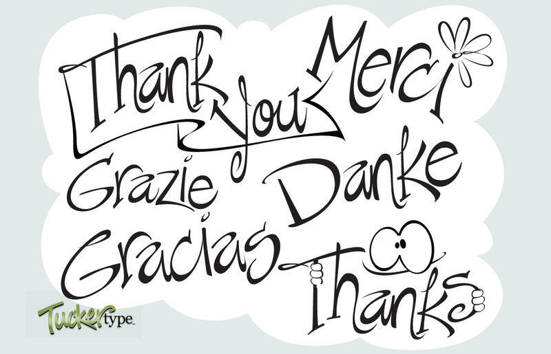 free vector Say Thanks ~ Vectored Words