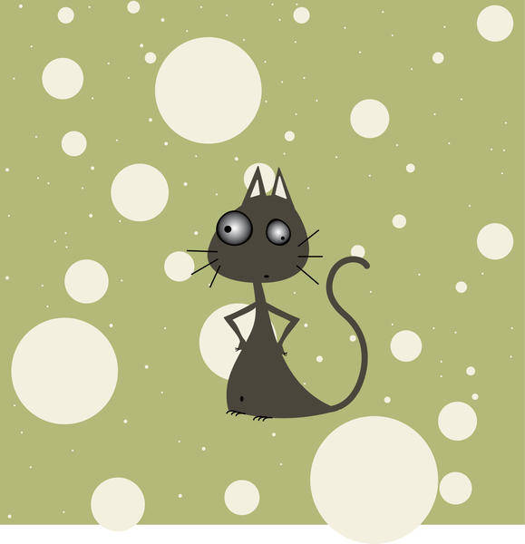 Mister Moustache Cat Vector