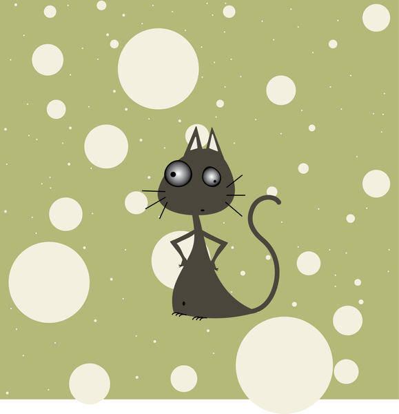 free vector Mister Moustache Cat Vector