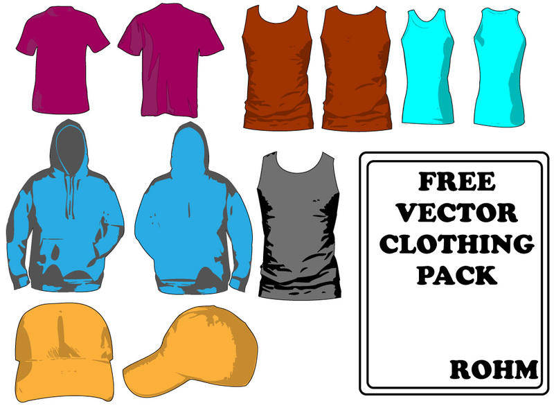 free vector Clothing templates pack