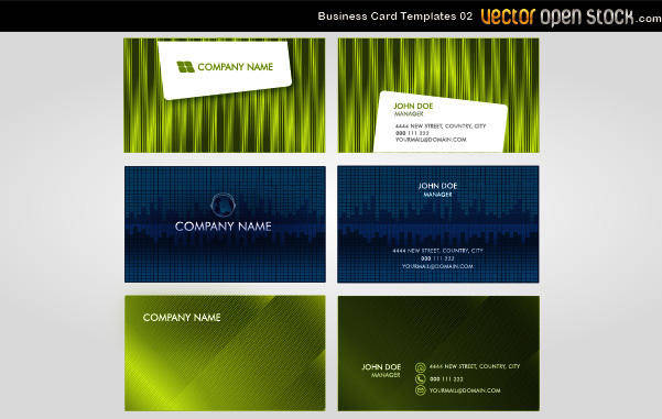 free vector Vector Business Card Templates 02