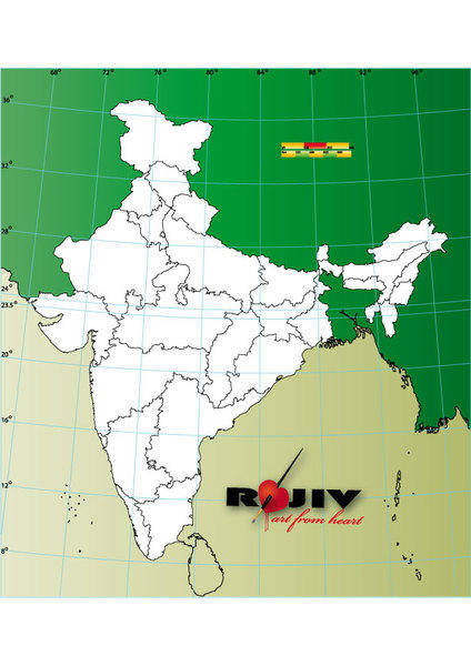 India state map outline