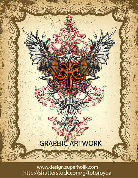 free vector Gothic Heraldry Vector