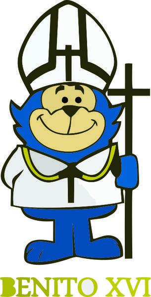 free vector Benito xvi Cartoon Vector