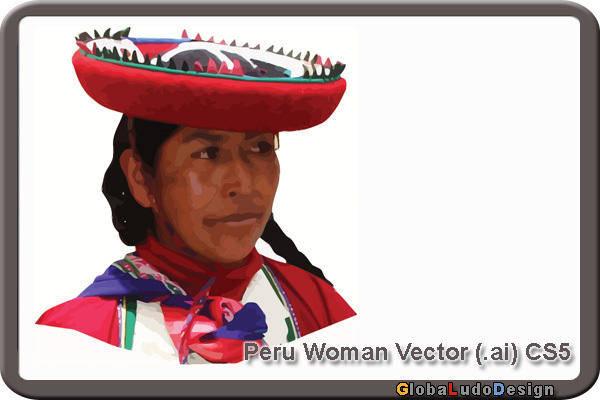 1 Peru Woman Vector