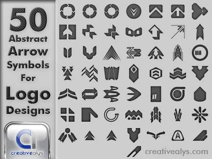 free vector 50 Abstract Arrow Symbols for Logo Designs