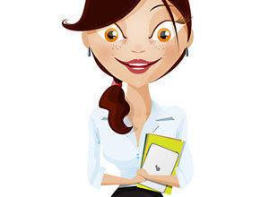 free vector Businesswoman Vector Character