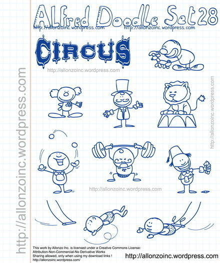 free vector Alfred Doodle Set 28