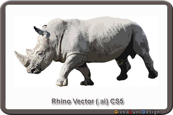 free vector Rhino Vector