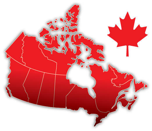 free vector Canada Day Vector Map