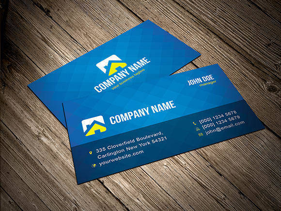 free vector Cool Blue Business Card Template Vector