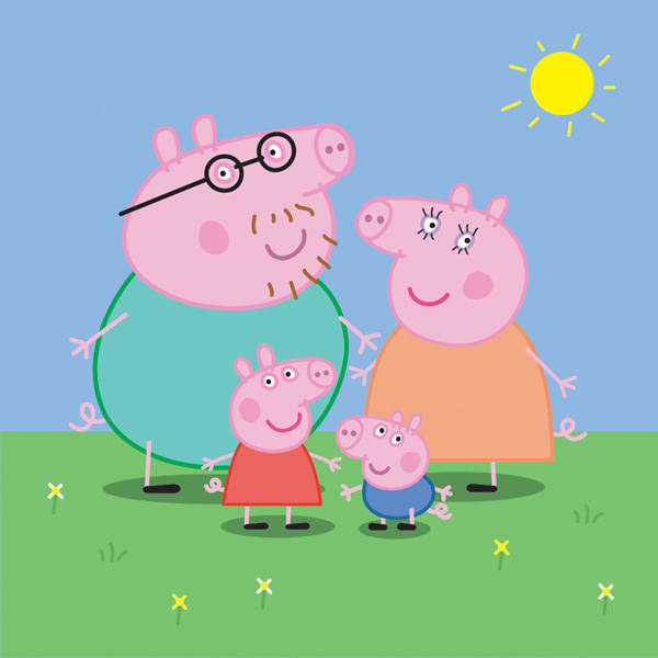 free vector Peppa Pig Family