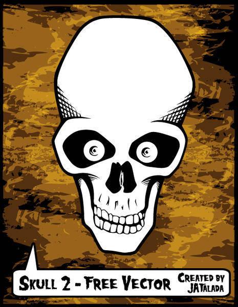 Free Skull Vector - Skull 2