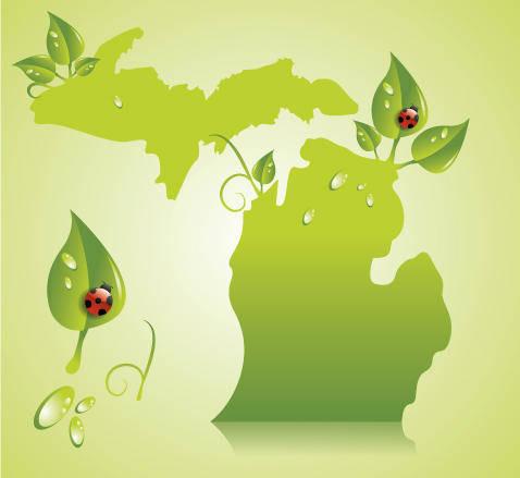 free vector Green Michigan