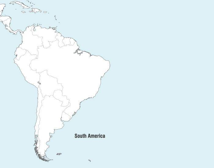 free vector South America Map Vector