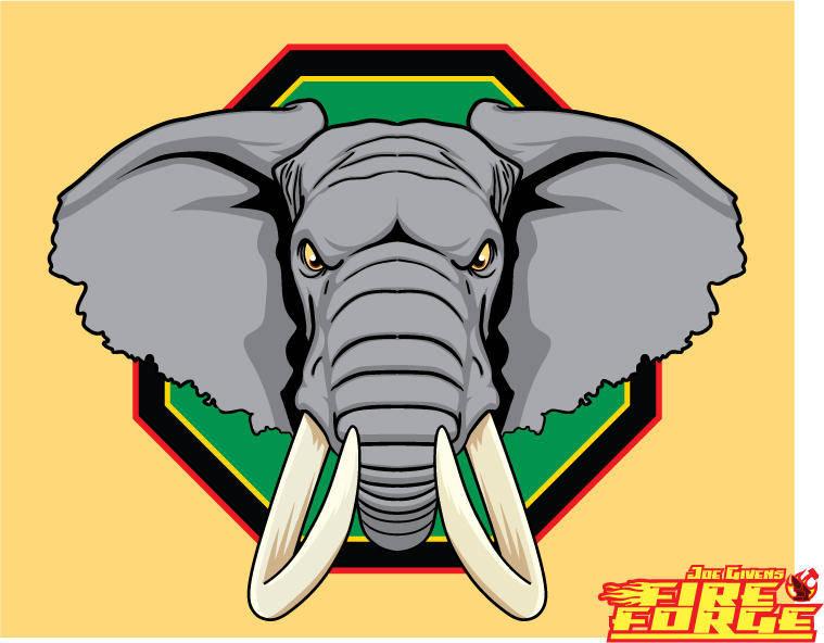 free vector African Elephant Head Vector