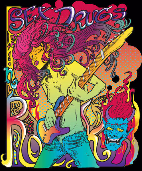 free vector Psychedelic Rock Star Poster Vector