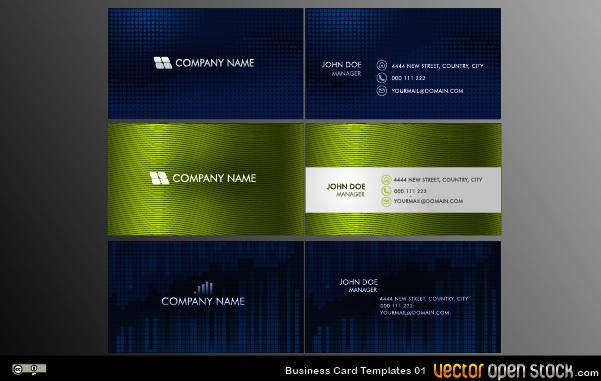 free vector Vector Business Card Templates 01