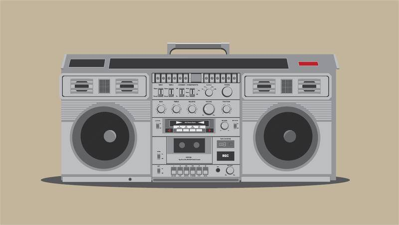 Free Detailed Boombox Vector