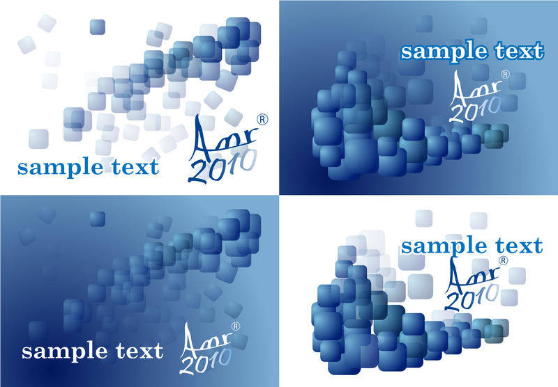 free vector Cubes in blue