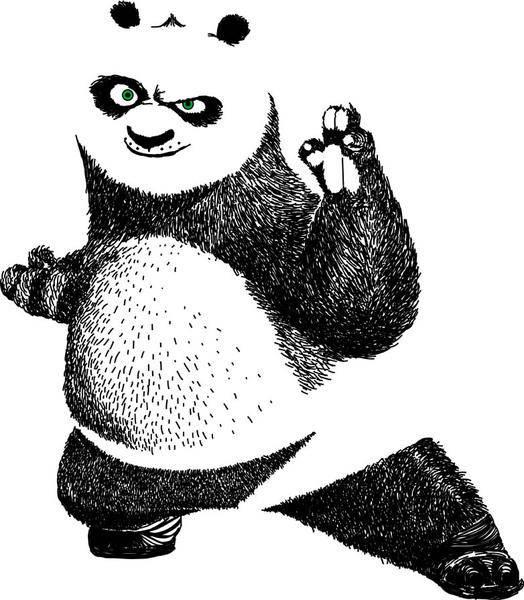 free vector Kungfu panda
