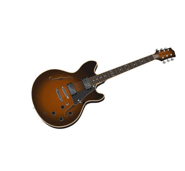free vector Guitar Photorealistic Vector Image