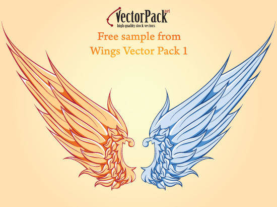 free vector Free Wing Vector Sample
