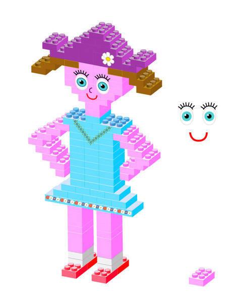 free vector Plastic bricks Girl