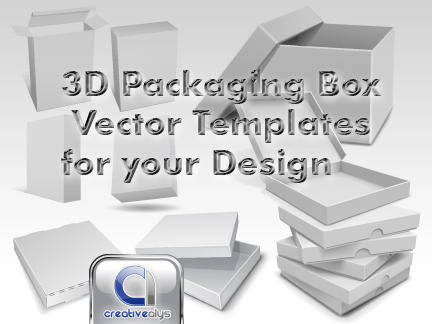 free vector 3D Packaging box vector templates for your design