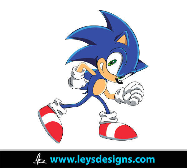 free vector Sonic the Hedgehog