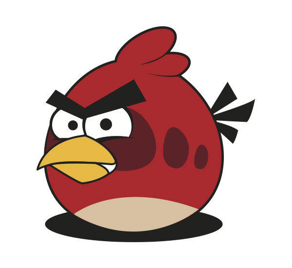 free vector Red Angry Bird Vector