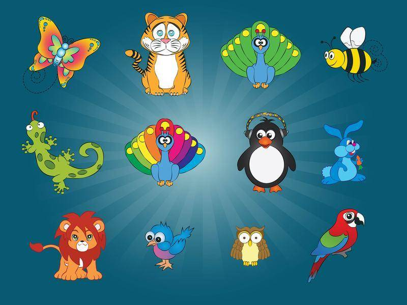 free vector 12 Animal Vector Graphics