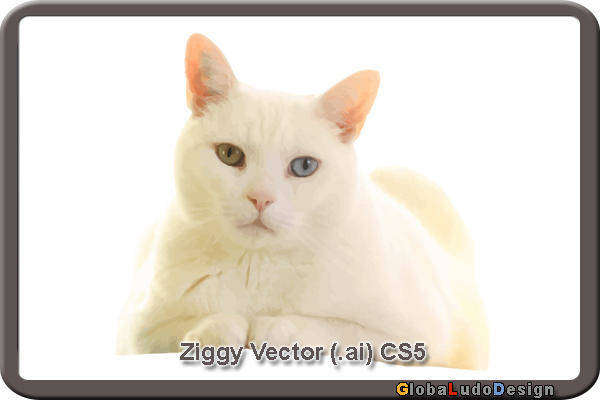 free vector 1. Ziggy Cat Vector
