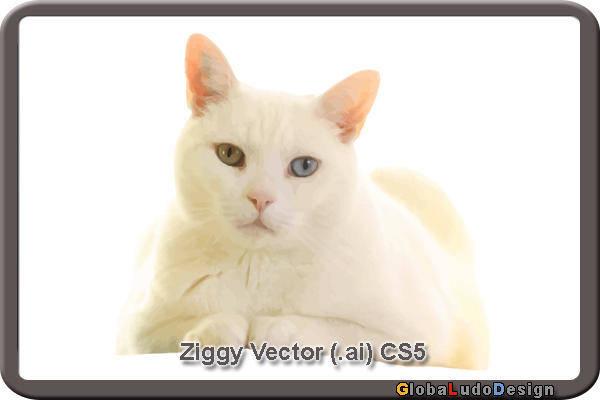 1. Ziggy Cat Vector