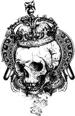 free vector Free Wicked Skull