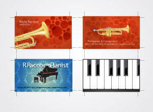 free vector Musicians Business Card Set 3