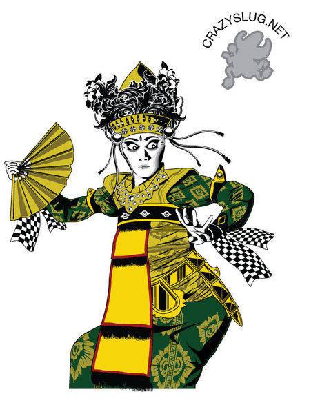 free vector Balinese dancer