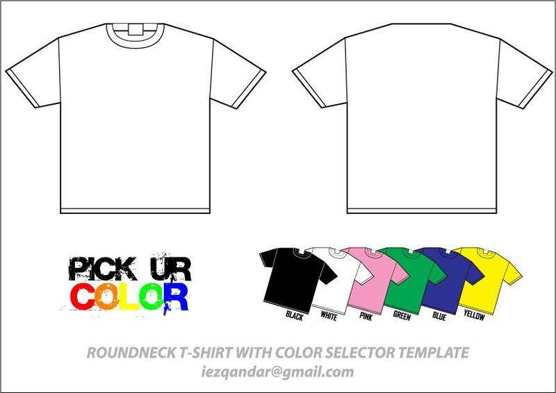 free vector T-Shirt Template Vector Pack