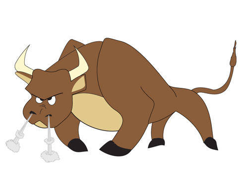 free vector Cartoon bull