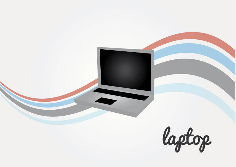 free vector Laptop Vector in vintage style background vector