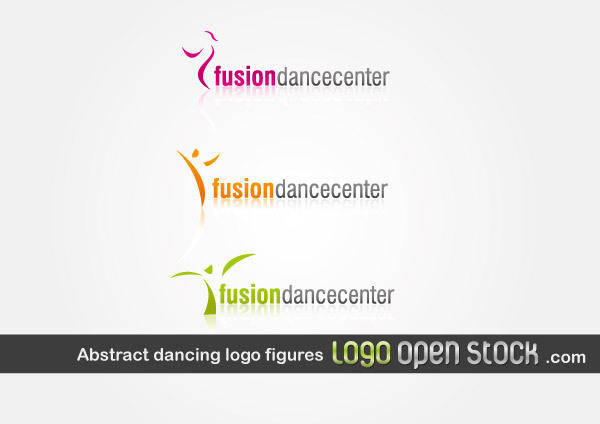 free vector Abstract Dancing Logo