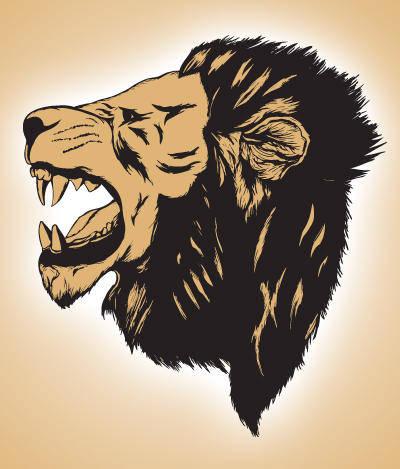 free vector Lion roar