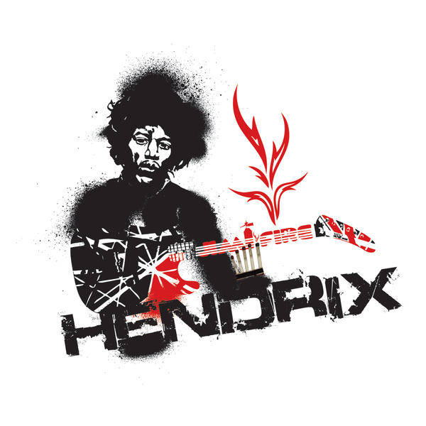 free vector Jimmy Hendrix Vector Fire