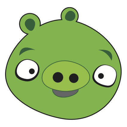 free vector Angry Birds Pig Vector