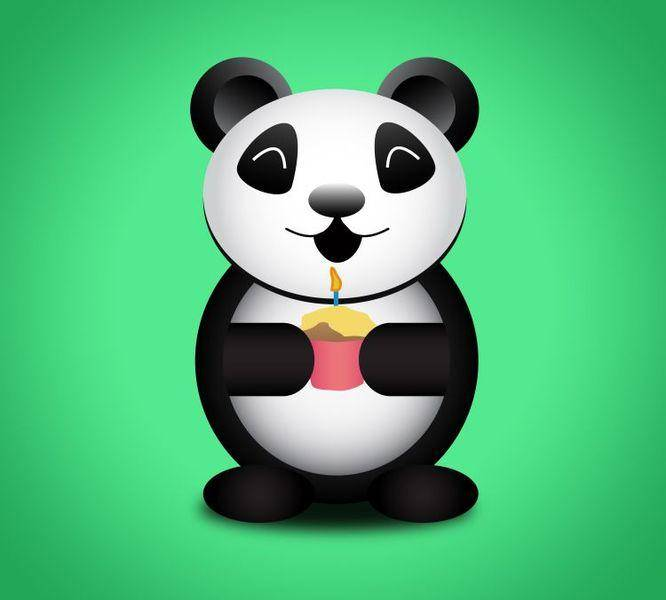 free vector FREE Party Panda Vector