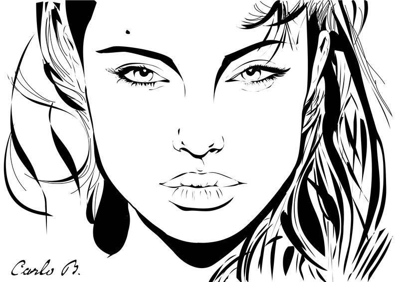 free vector Angelina Jolie Vector