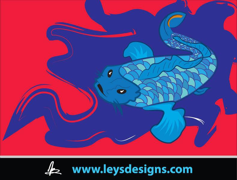 free vector Coy Fish