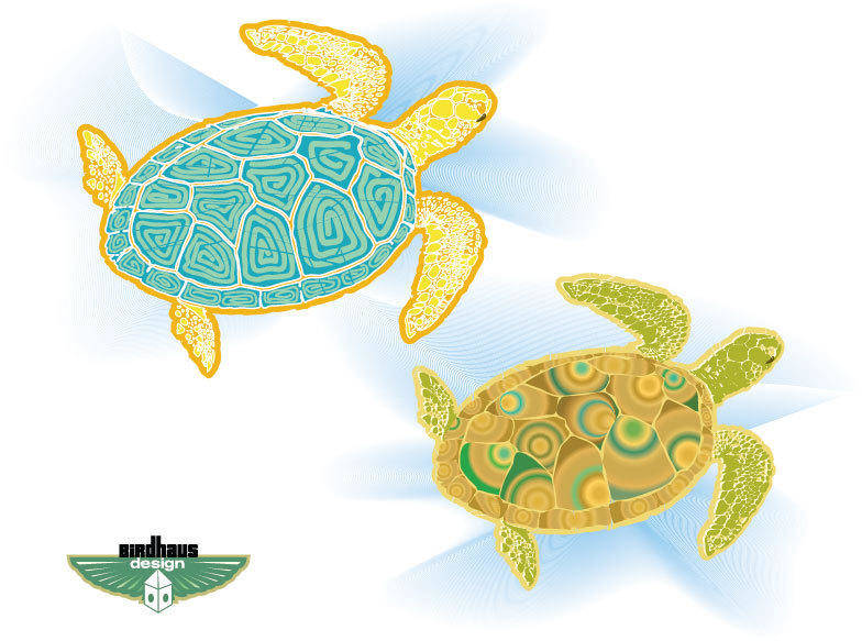 free vector Sea Turtles